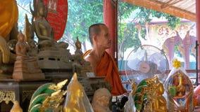 Michaelita supła faborek, arkanę turyści przy Buddyjską świątynią lub raj i piekło Tajlandia zbiory