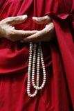 Michaelita trzyma buddyjskiego różana obraz stock