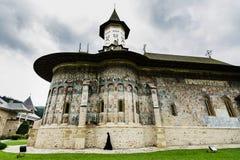 Michaelita w Sucevita malował monasteru fortecę, unesco dziedzictwo, Ro Fotografia Stock