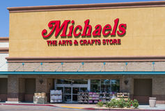 Michaels Retail Store Exterior and Sign Stock Photo