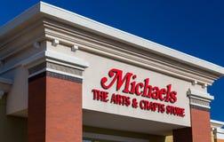 Michaels Retail Store Exterior und Zeichen Lizenzfreies Stockfoto