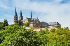 Michaelsberg abbotskloster, Bamberg, Tyskland Arkivbilder