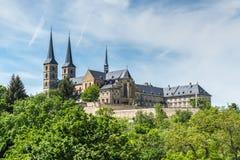 Michaelsberg abbotskloster, Bamberg, Tyskland Arkivbild