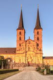 Michaelsberg. Picture of the Michaelsberg in the setting sun in the world culture heritage city of Bamberg, shot in early August on a warm evening Royalty Free Stock Images