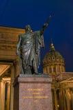Michail Kutuzov statue 1837 and  Kazan cathedral Stock Image