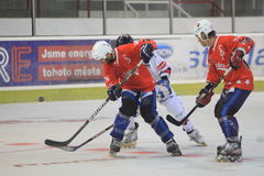 Michal Bezouska - inline hockey Stock Image
