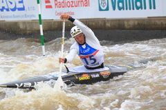 Michal Jane - water slalom world championship Royalty Free Stock Image