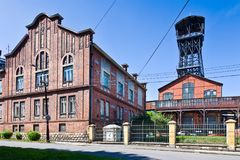 Michal kolenmijn nationaal cultureel oriëntatiepunt, de stad van Ostrava, Noord-Moravië, Tsjechische republiek royalty-vrije stock fotografie