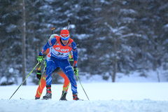 Michal Krcmar - biathlon Images stock