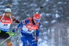 Michal Krcmar - puchar świata w biathlon Obrazy Royalty Free