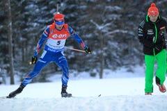 Michal Slesingr - биатлон стоковое фото