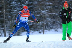 Michal Slesingr - biathlon Photo stock