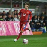 Michal Travnik. PRAGUE 27/03/2015 _ Friendly match Czech Republic U21 - England U21 stock image