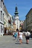 Michalska ulica i Michael ` s brama w - Zdjęcie Royalty Free