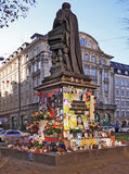 Micheal Jackson spontaneous memorial in Munich, De Royalty Free Stock Image