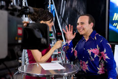 Michel Camilo interview at Estiva Jazz 2012 Royalty Free Stock Images