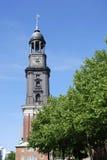 Michel church. In Hamburg (Germany royalty free stock photo