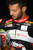Michel Fabrizio #84 σε Aprilia RSV4 1000 κόκκινοι διάβολοι Ρώμη Superbike WSBK εργοστασίων Στοκ εικόνες με δικαίωμα ελεύθερης χρήσης