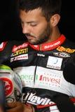 Michel Fabrizio #84 on Aprilia RSV4 1000 Factory Red Devils Roma Superbike WSBK royalty free stock images