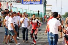 Michel Fabrizio bij de gebeurtenis van Ducati Week2010 van de Wereld Royalty-vrije Stock Foto's