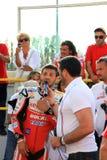 Michel Fabrizio bij de gebeurtenis van Ducati Week2010 van de Wereld Stock Foto's