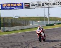 Michel Fabrizio bij de Week 2010event van Ducati van de Wereld Royalty-vrije Stock Foto's
