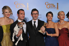 Michel Hazanavicius, Penelope Ann Miller, Missi Pyle, Jean Dujardin, Berenice Bejo, Ann Miller Stock Photography