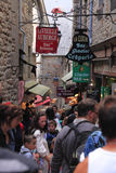 michel mont świętego ulicy Zdjęcie Royalty Free