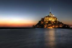 法国michel mont诺曼底圣徒 库存图片