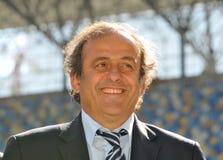 Michel Platini in Ukraine Royalty Free Stock Photo