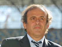 Michel Platini in Ukraine Royalty Free Stock Image