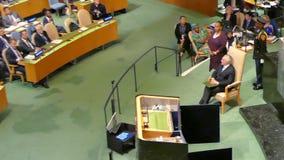 Michel Temer στη Γενική Συνέλευση Ηνωμένων Εθνών απόθεμα βίντεο