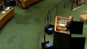 Michel Temer na assembleia geral de United Nations vídeos de arquivo