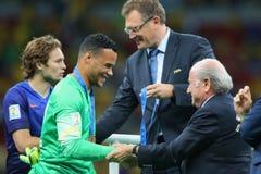 Michel Vorm and Sep Blatter Coupe du monde 2014 Stock Image