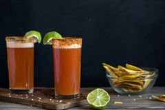 Michelada Beer Cocktail Royalty Free Stock Photography