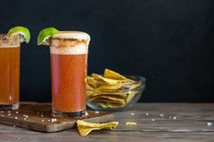 Michelada Beer Cocktail Royalty Free Stock Images