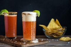 Michelada Beer Cocktail Stock Image
