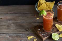 Michelada Bloody Beer Cocktail Royalty Free Stock Images