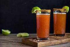 Michelada Bloody Beer Cocktail Royalty Free Stock Image