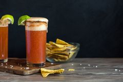 Michelada Bloody Beer Cocktail Royalty Free Stock Photo