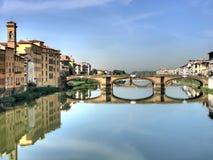 Ponte Santa Trinita bridge stock image