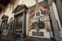 Michelangelo Buonarroti, detail of the tomb, Santa Croce cathedral, Florence Stock Photos