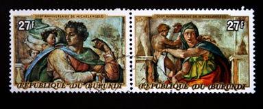 Michelangelo Buonarroti's paint Stock Images