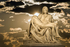 Michelangelo - Christ - Pieta on the sky Royalty Free Stock Image