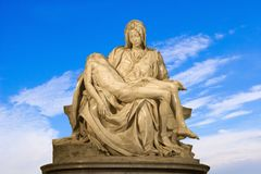 Michelangelo - Christ - Pieta on the sky Stock Photos