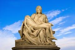 Michelangelo - Christ - Pieta on the sky Stock Photos