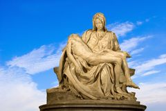 Michelangelo - Christ - Pieta on the sky Stock Photo