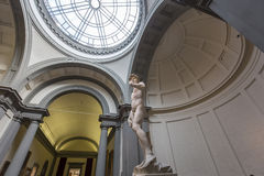 Michelangelo David statue in Accademia, Florence, Italy Royalty Free Stock Images