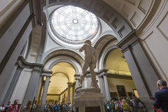 Michelangelo David statue in Accademia, Florence, Italy Stock Photos