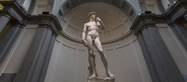 Michelangelo David statue in Accademia, Florence, Italy Stock Image